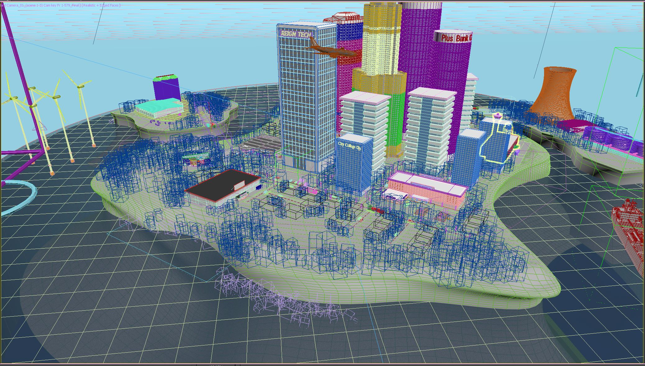 3D city mesh prior as seen from the designers perspecitve.