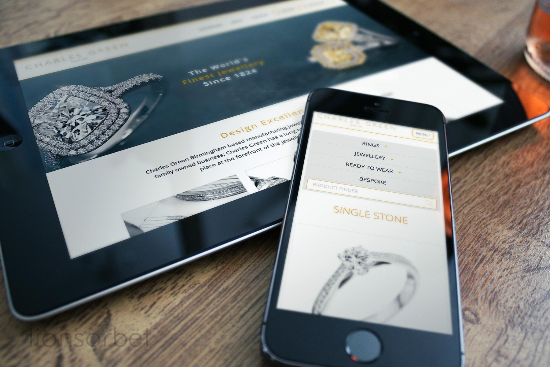 Charles Green Luxury Bridal Website
