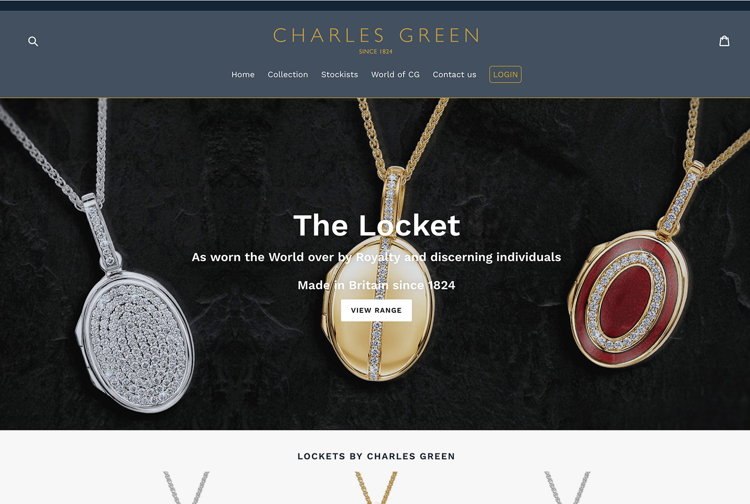 Luxury Lockets - We helped esteemed Jewellery Manufacturer Charles Green launched their new Luxury product range to the public, featuring a stunning range of colourful diamond pendants and lockets.