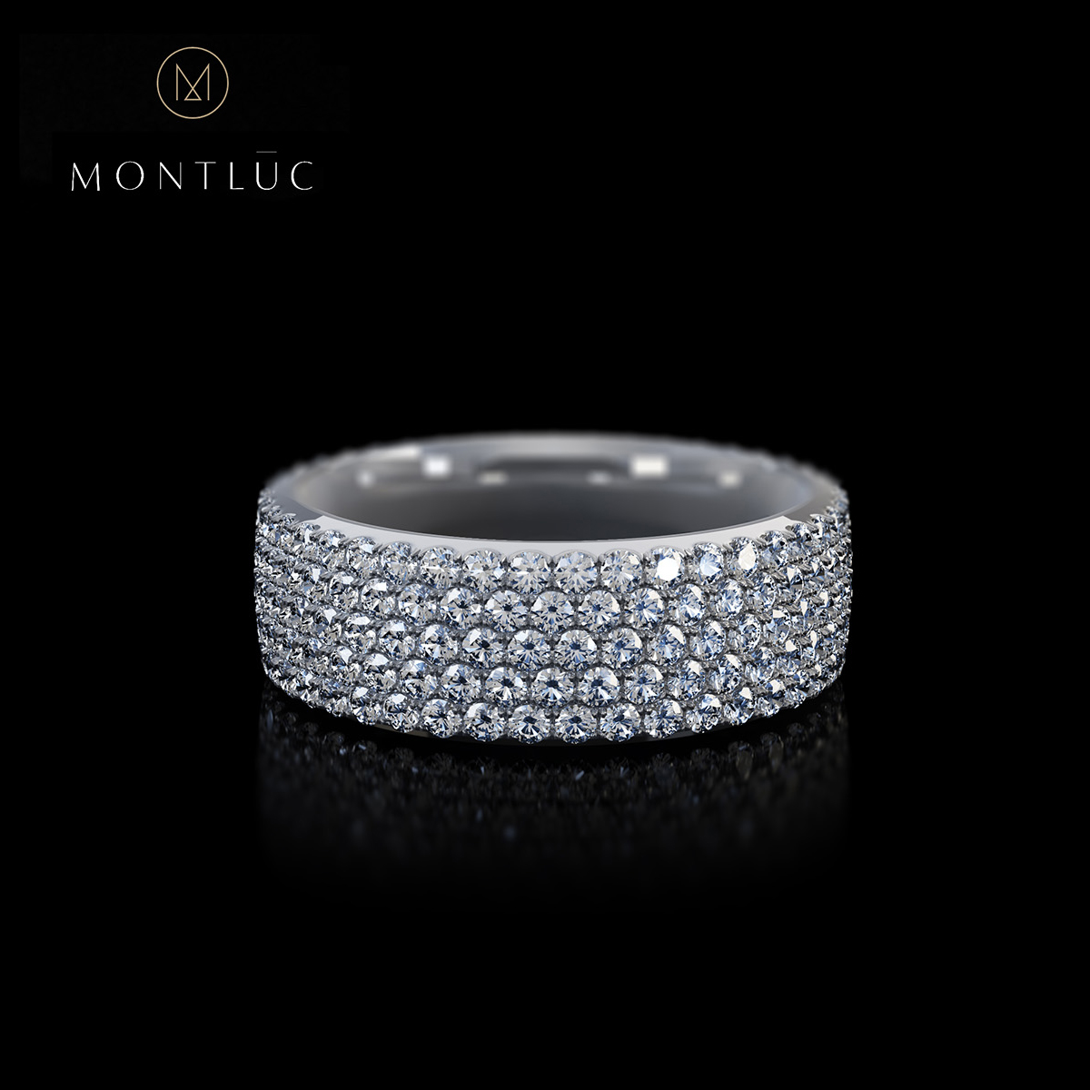 Montluc Jewellery - The Stargazer Pave Diamond Ring