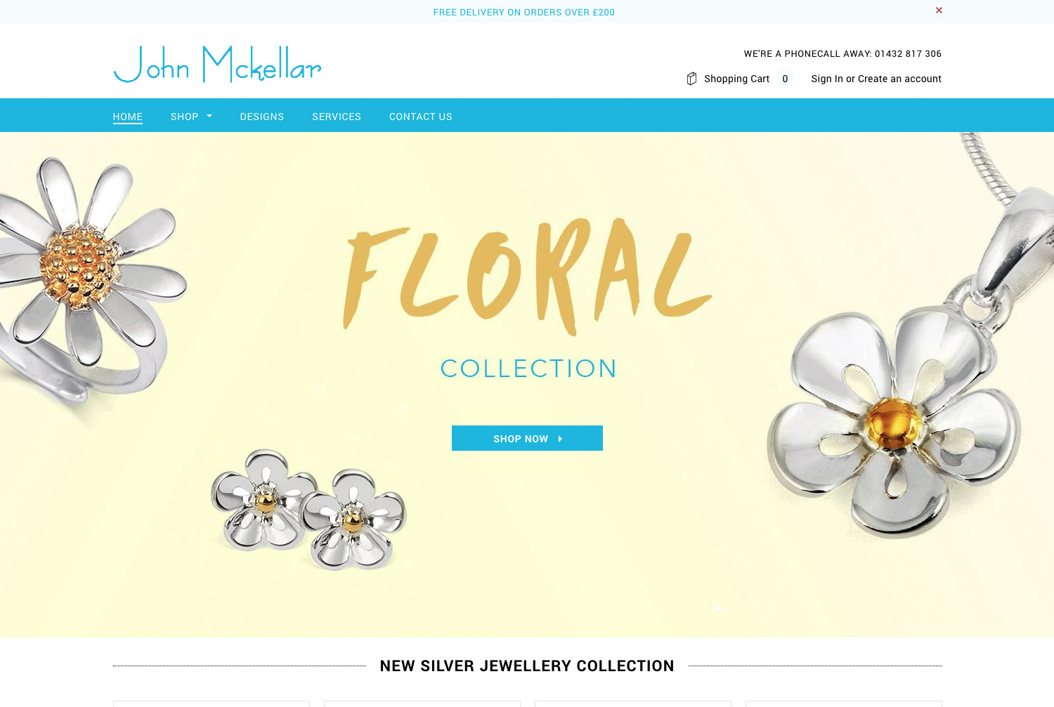 John Mckellar - We helped launch a new site for award winning Jewellery Designer John McKellar, enabling customers to browse their collection of designer, handmade platinum, silver and gold jewellery.