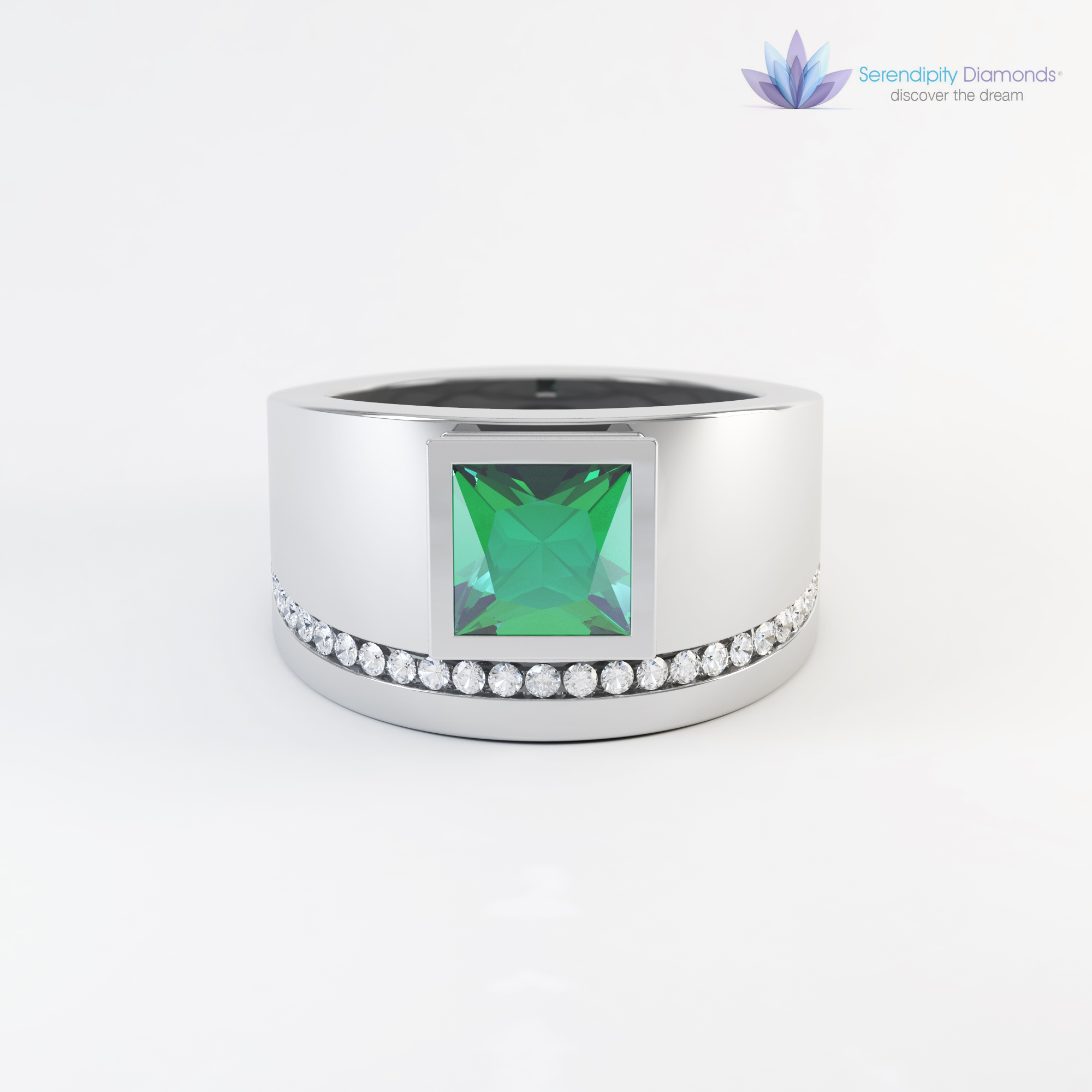 jewellery rendering from 3D CAD model