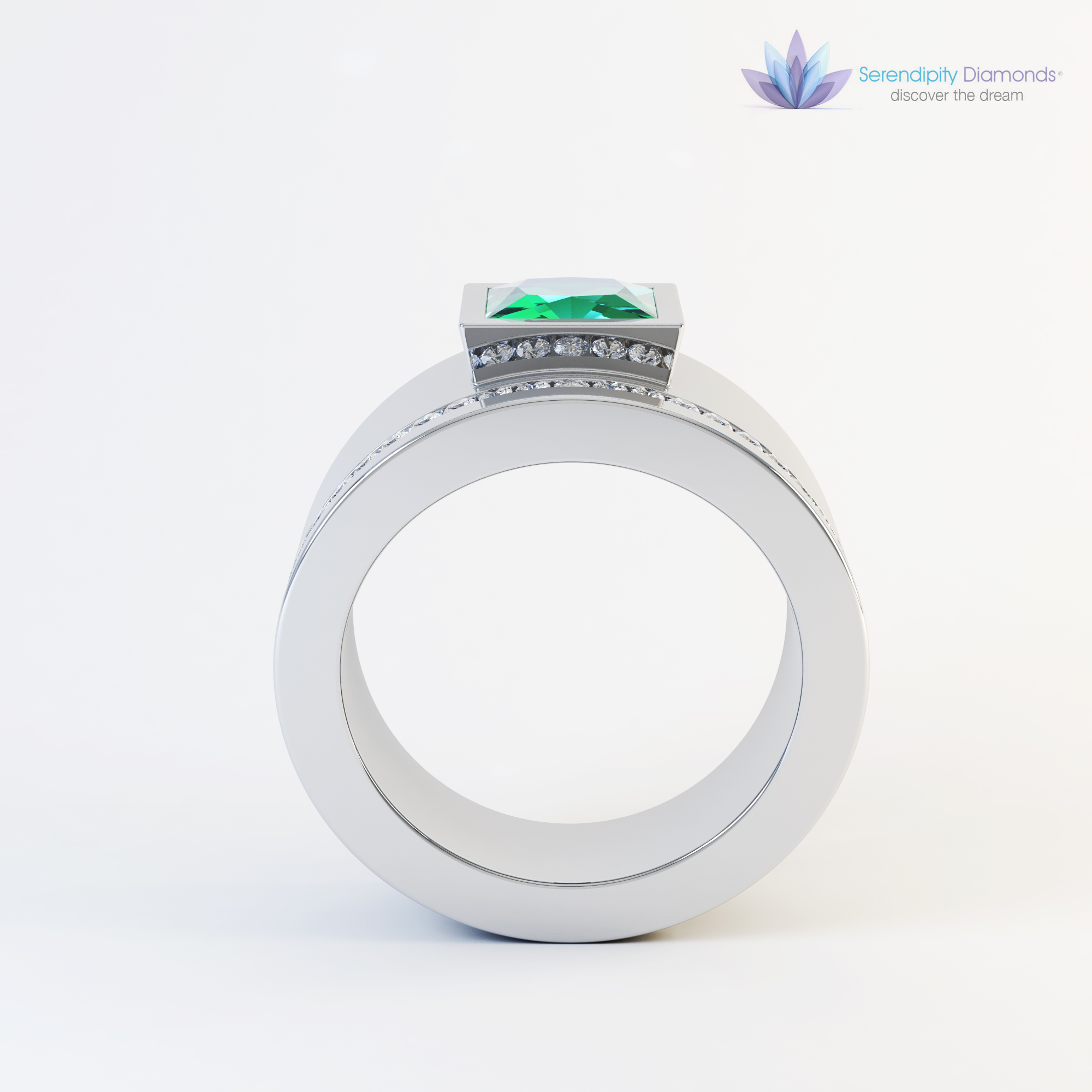 jewellery rendering from 3D CAD
