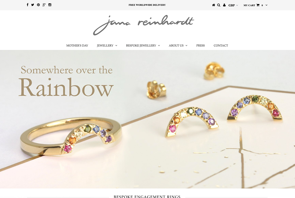 Jana Reinhardt Jewellery - Truly beautiful handmade jewellery by Jana Reinhardt. We helped them update their existing website and build a new shopping experience for new and existing customers.