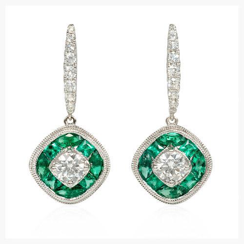 Jewelry Photography NYC Image © KKish 2019 diamond and emerald earrings