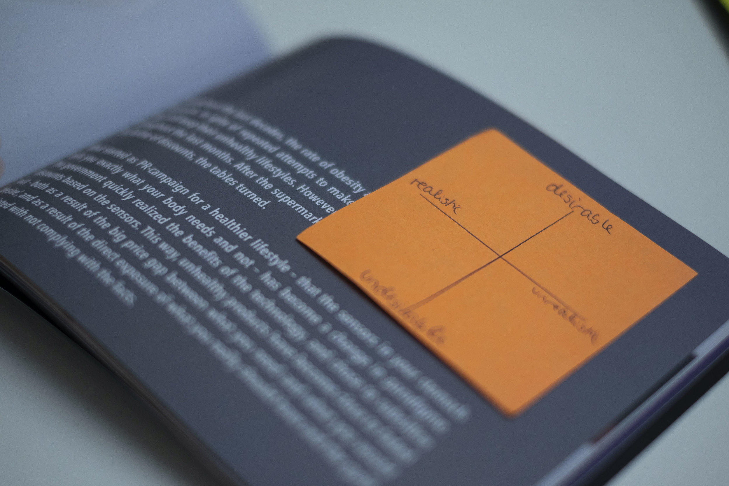 The Future Supermarket Workshop - Future Scenarios Booklet. Photo by Ivar Simonsen