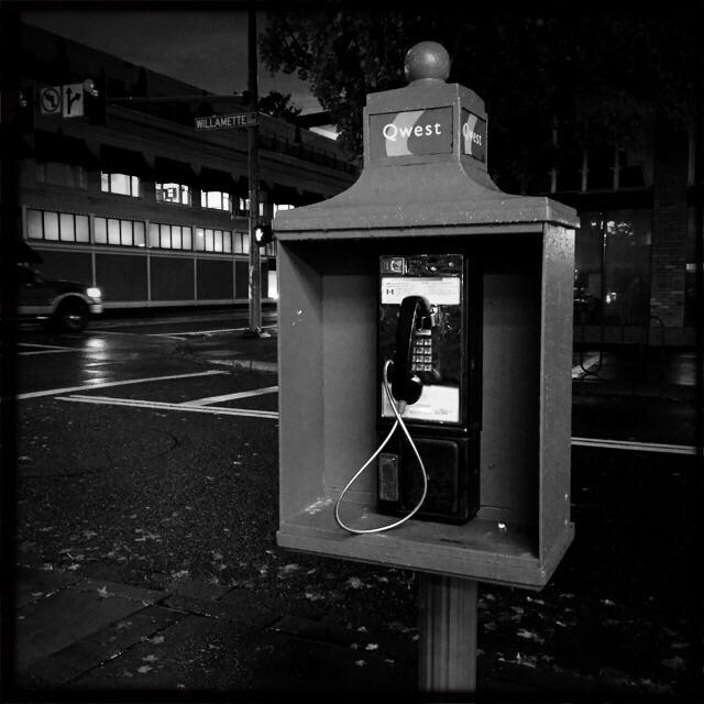 A public telephone? Wow!