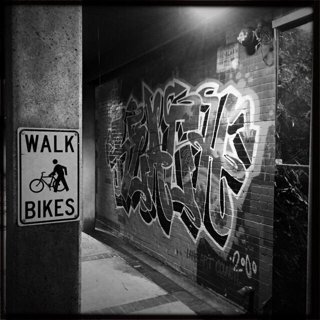 Walk Bikes and graffiti