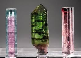 Bi colored tourmaline, green/chrome tourmaline, pink tourmaline