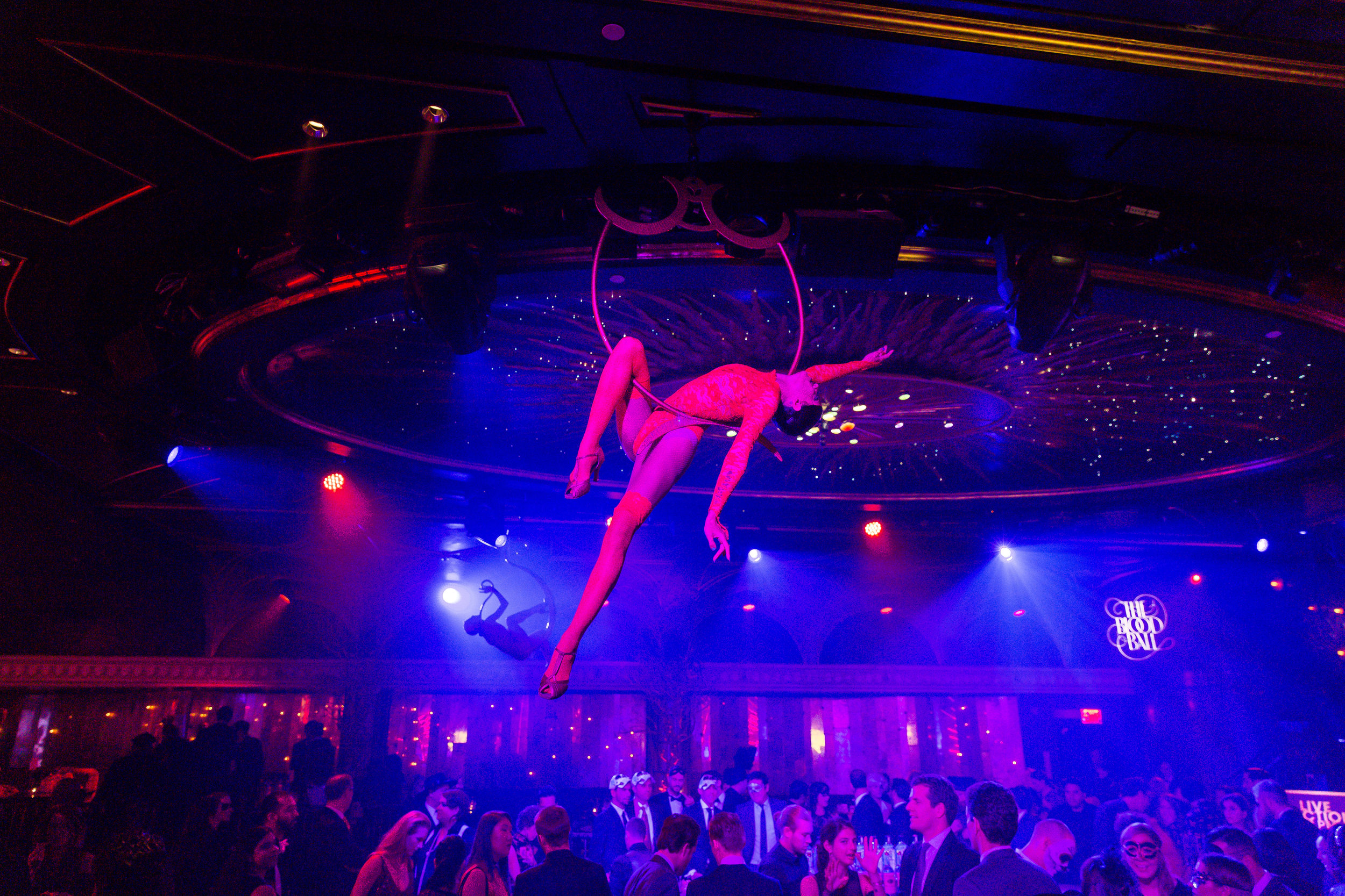 Aerialists at The Diamond Horseshoe / Photo: Eric Vitale