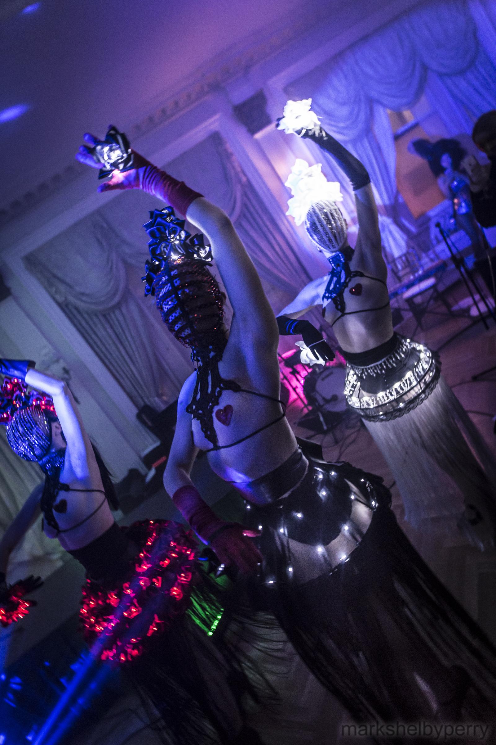 LED Masked Rose Dress