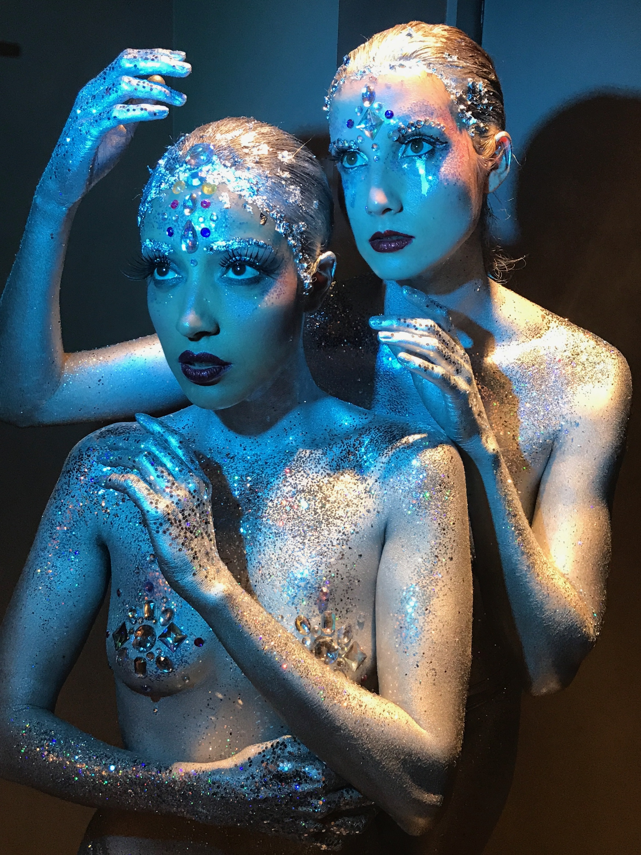 9 7 17 Glitter Tears Body Painting Private Event Shien Producer Creative Director Fantasy Architect