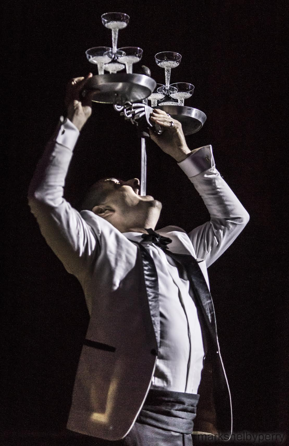 Champagne Tower Sword Swallower