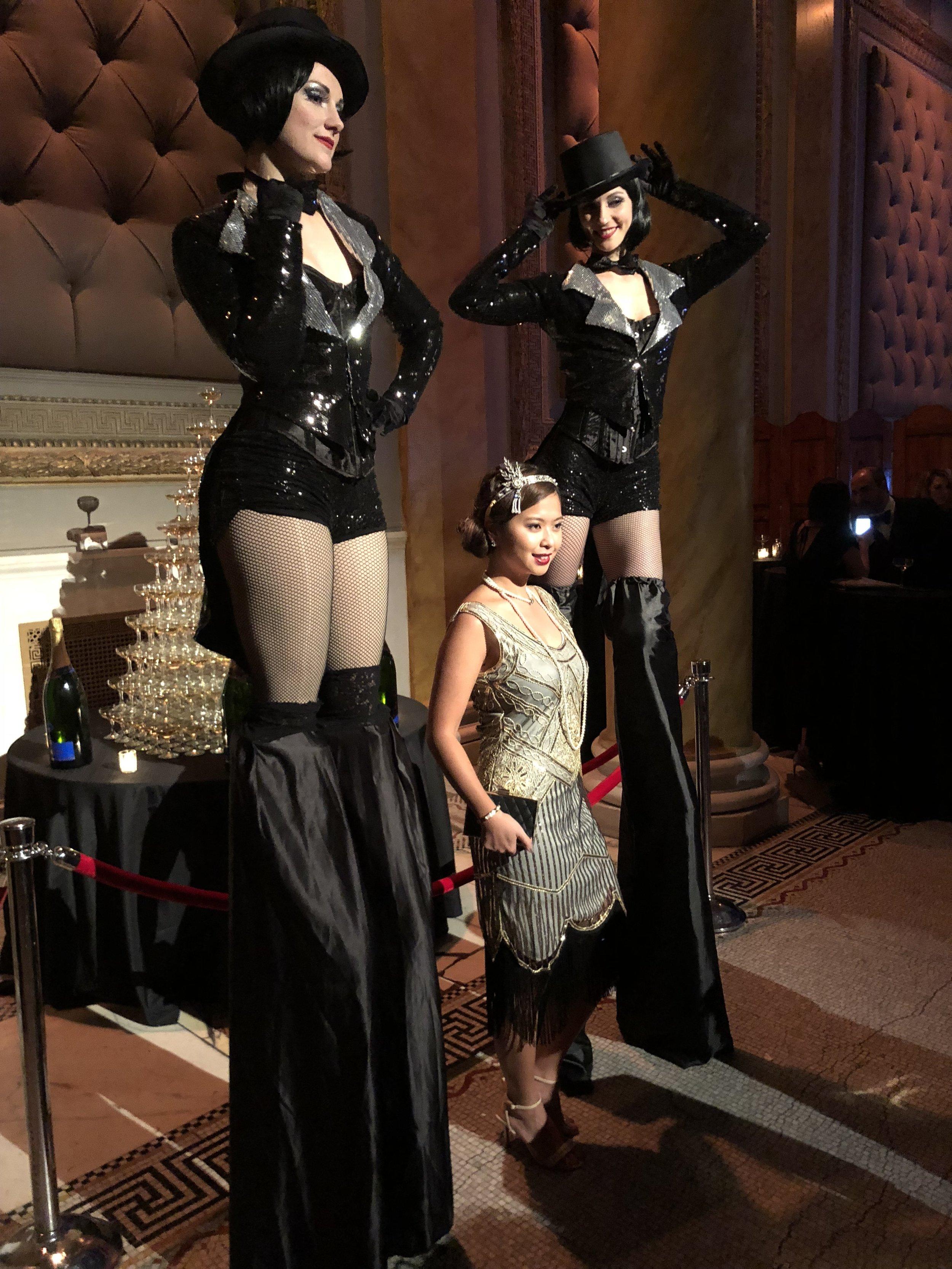 Gatsby Tuxedo Stilt Walker Showgirls