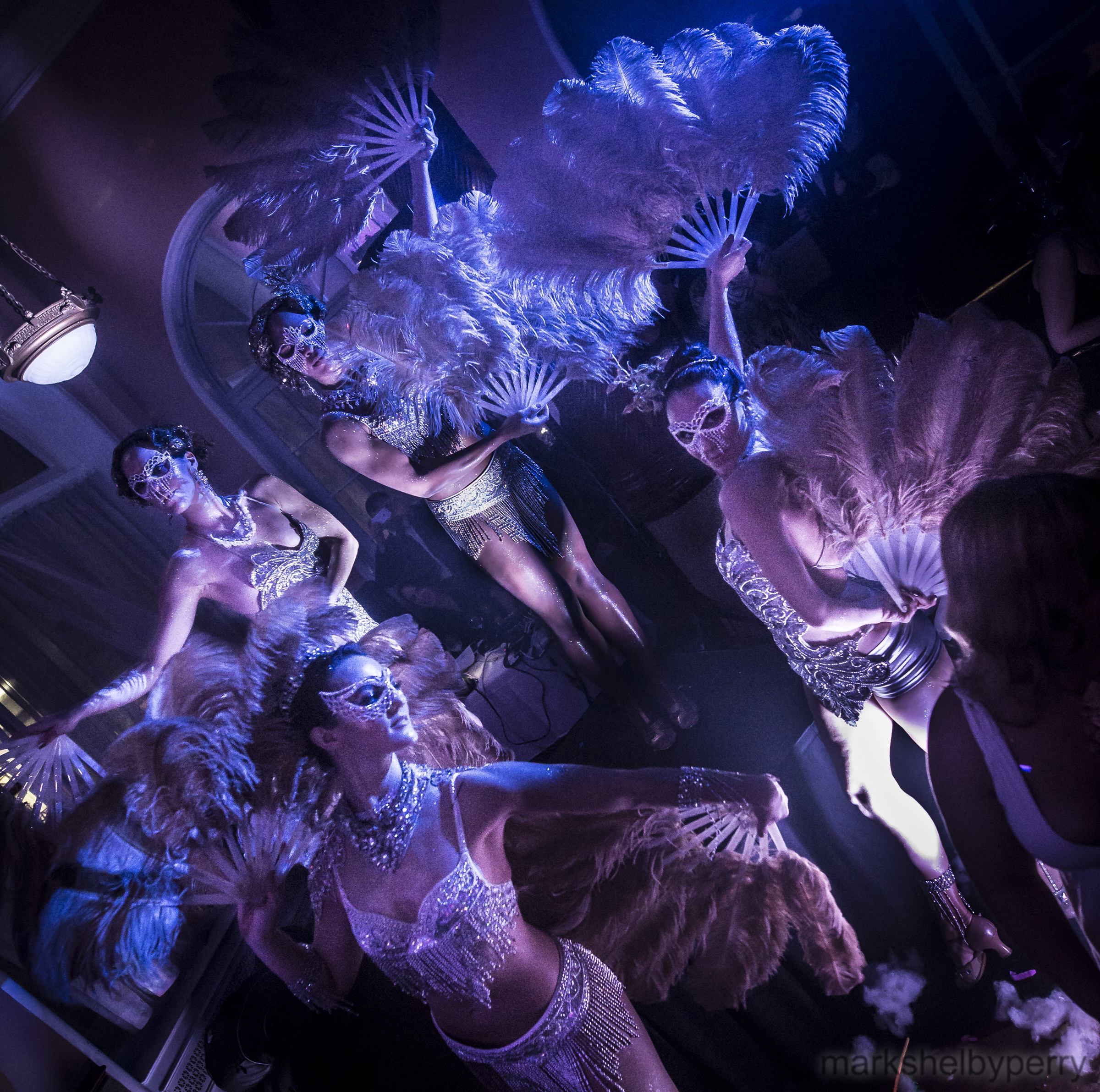 Feather Fan Burlesque Dancers