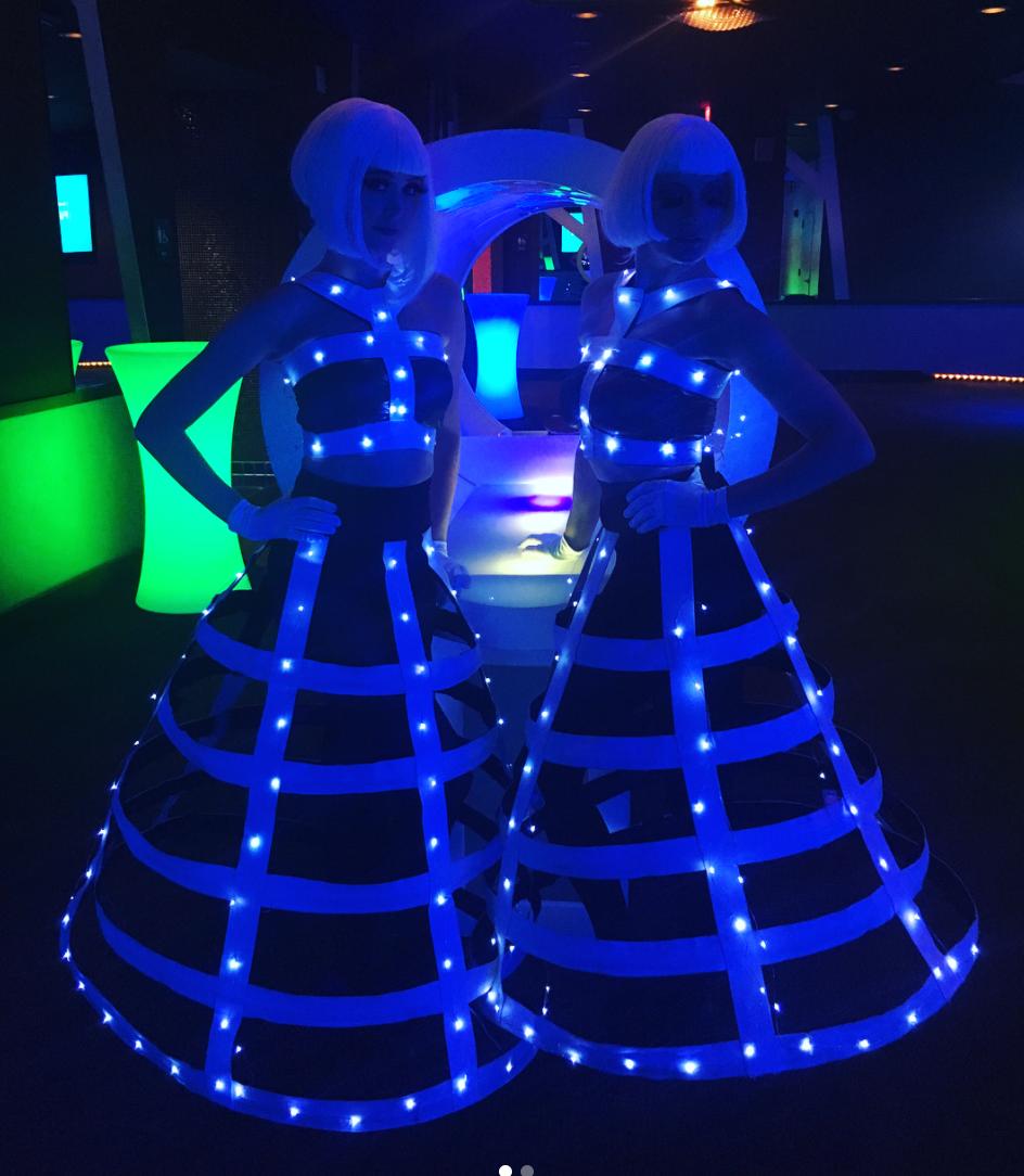 Futuristic LED Dancers