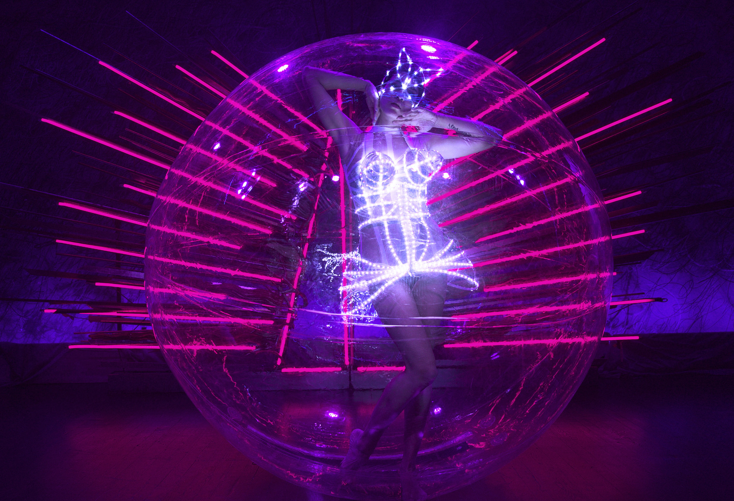 LED Dress in Bubble