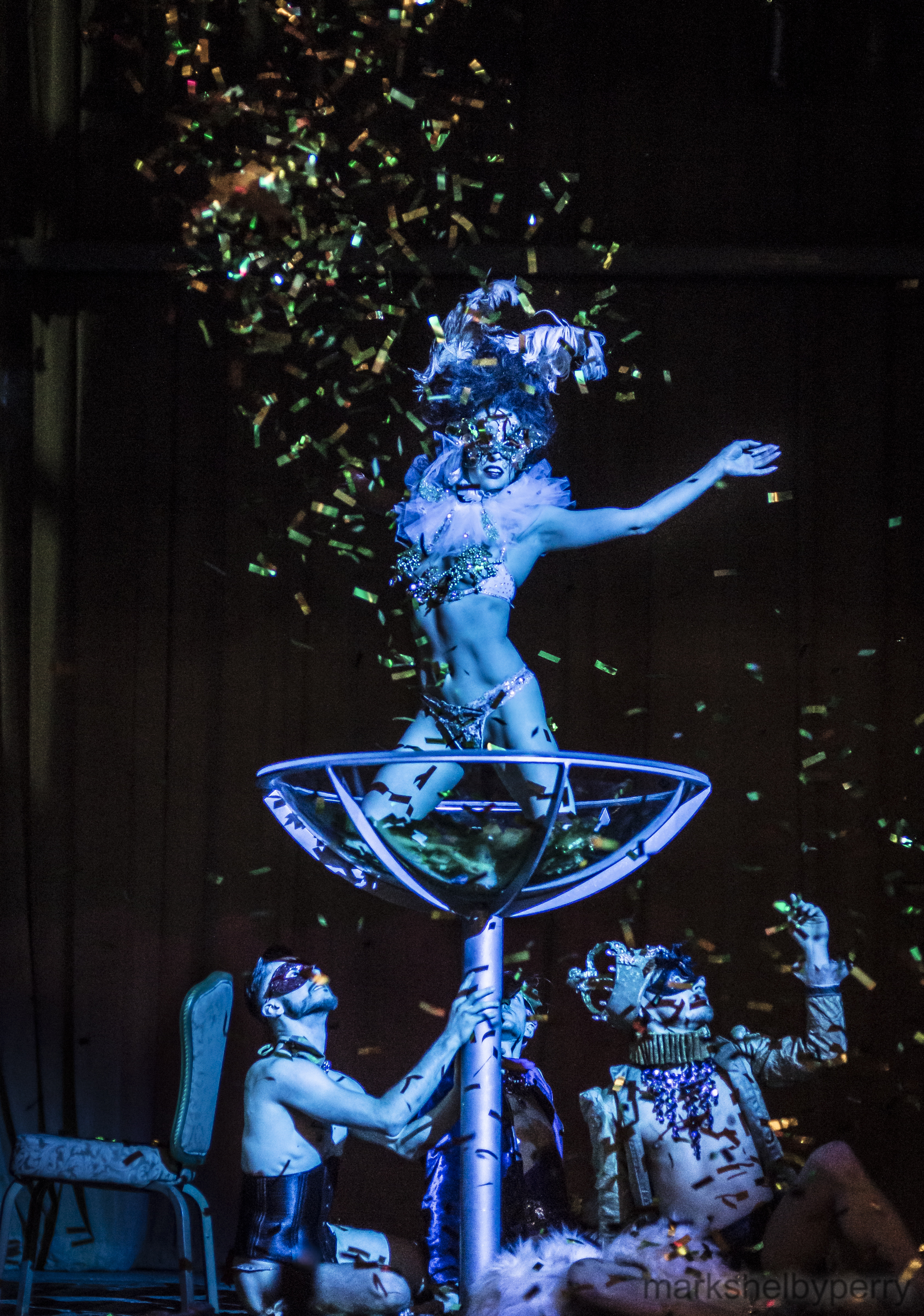 Champagne Glass Masquerade Tableaux