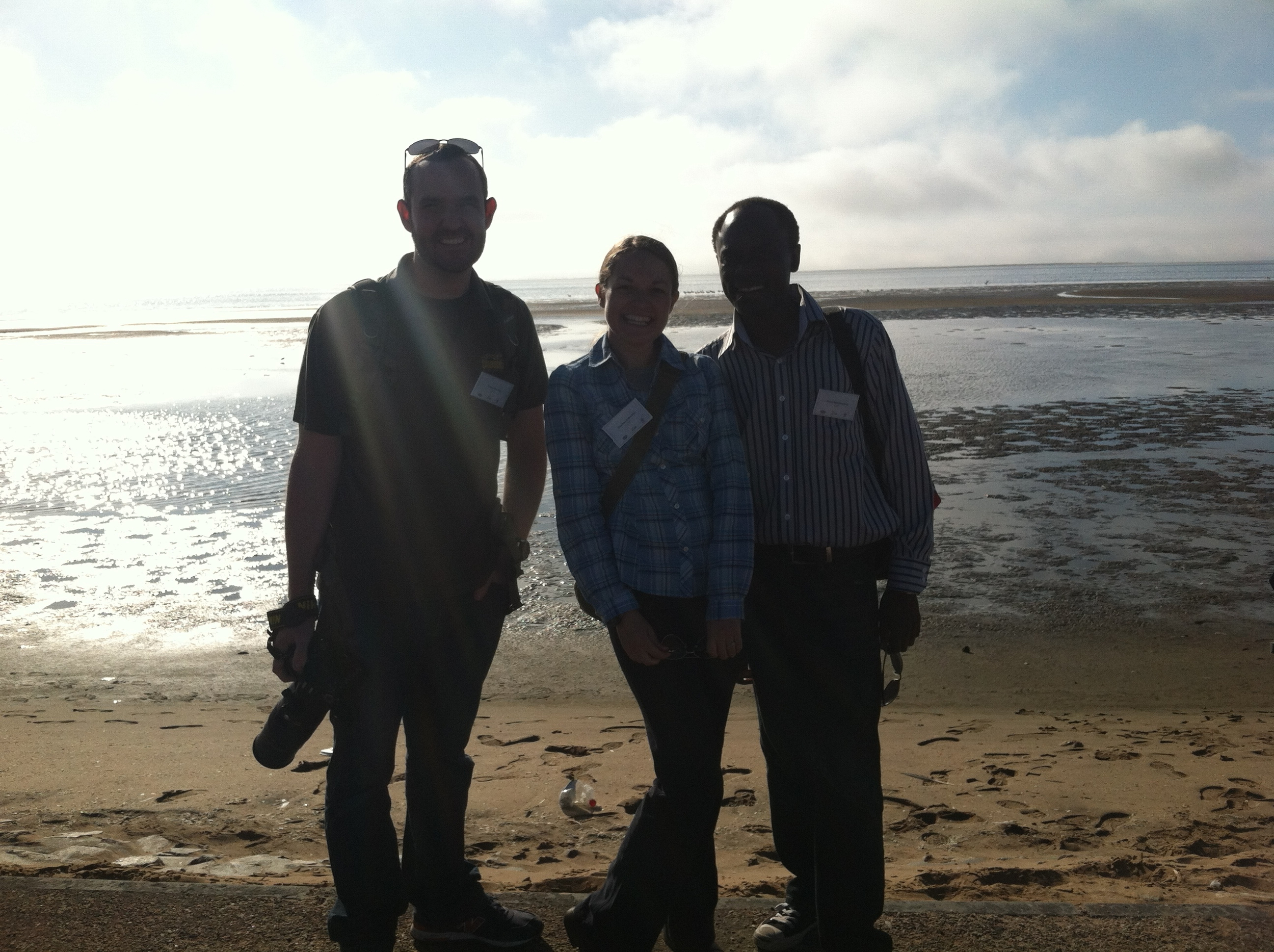 Bobby, Stephanie and Matti at Walvis Bay