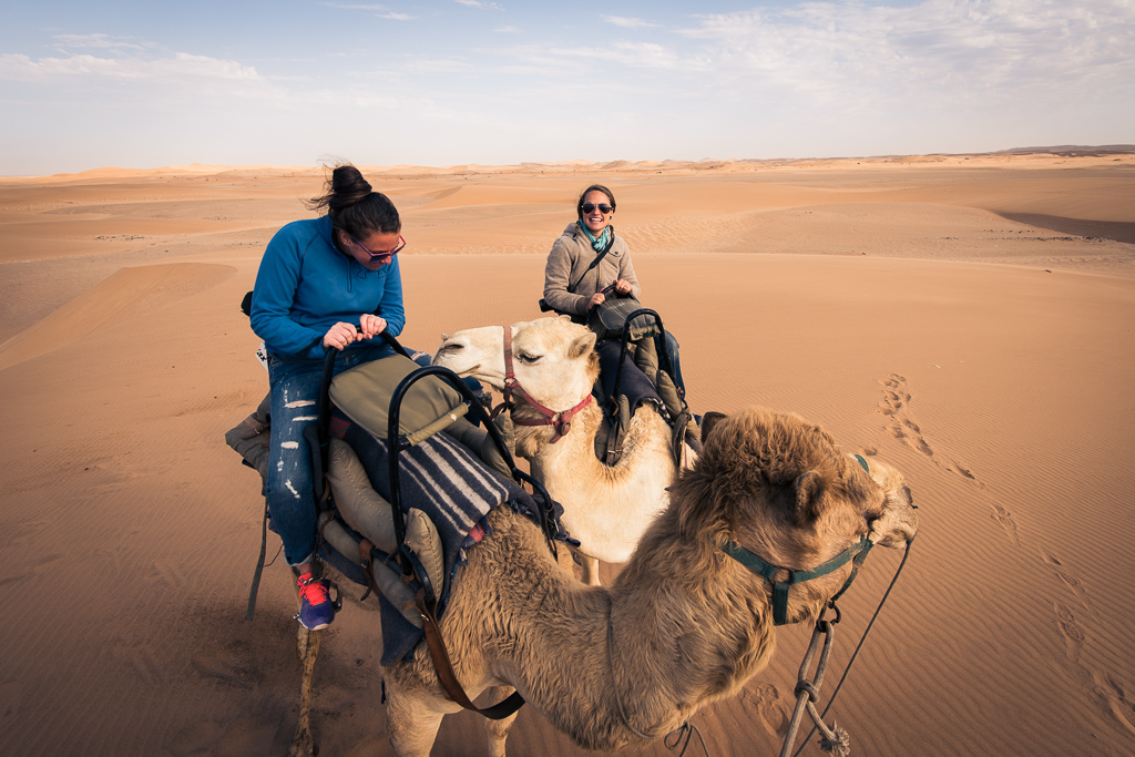 Stephanie and Emily on a Camel!