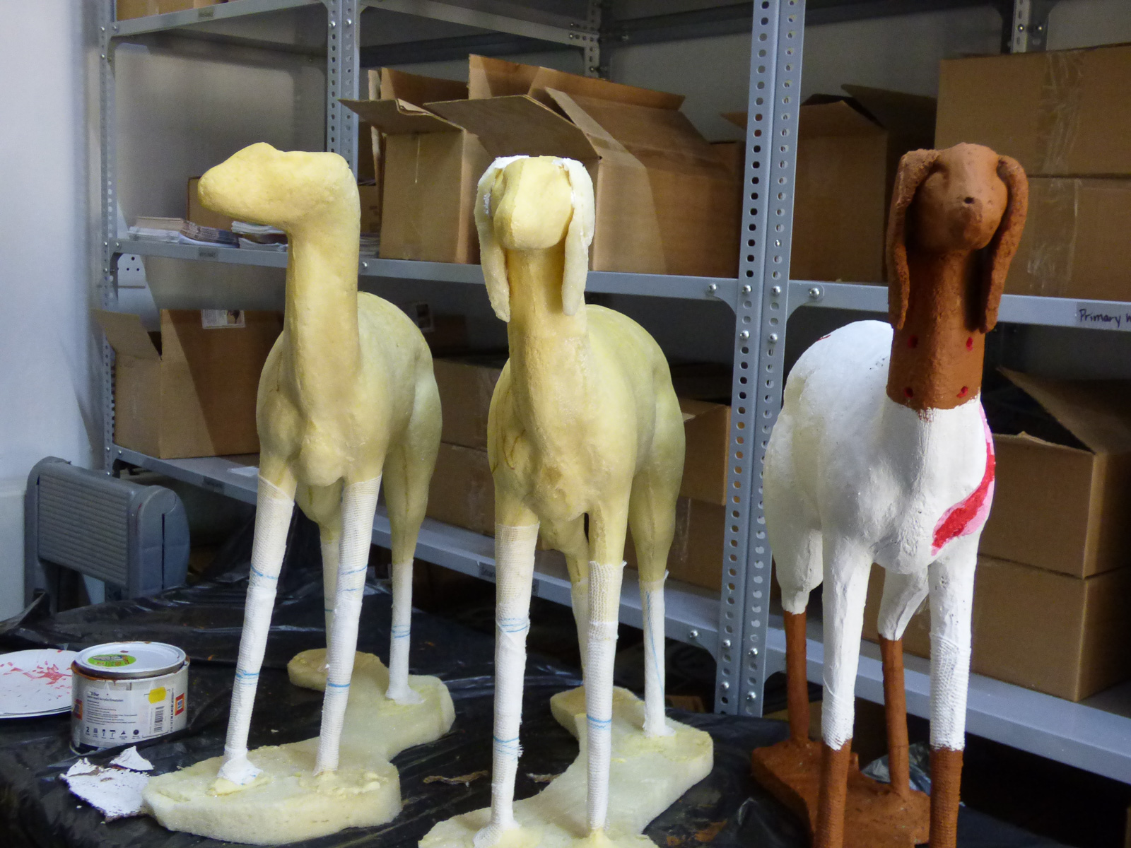 Goats in various stages of development