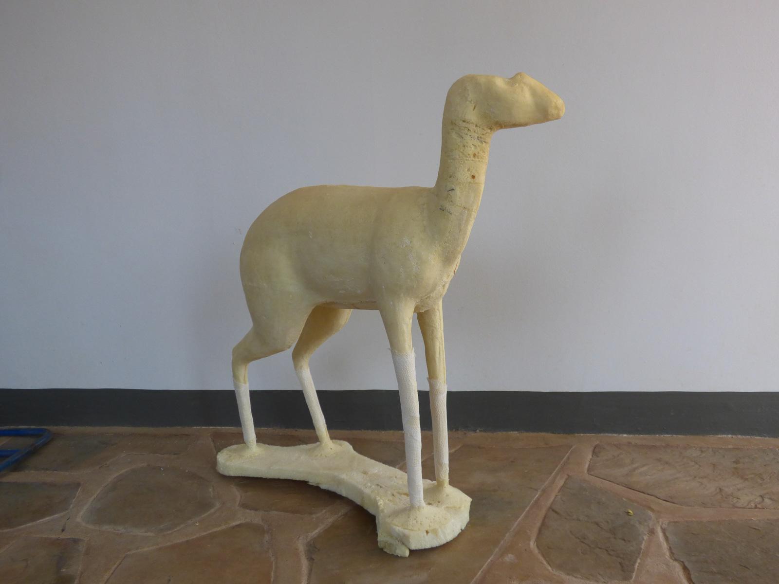 Steenbok foam mold in raw form