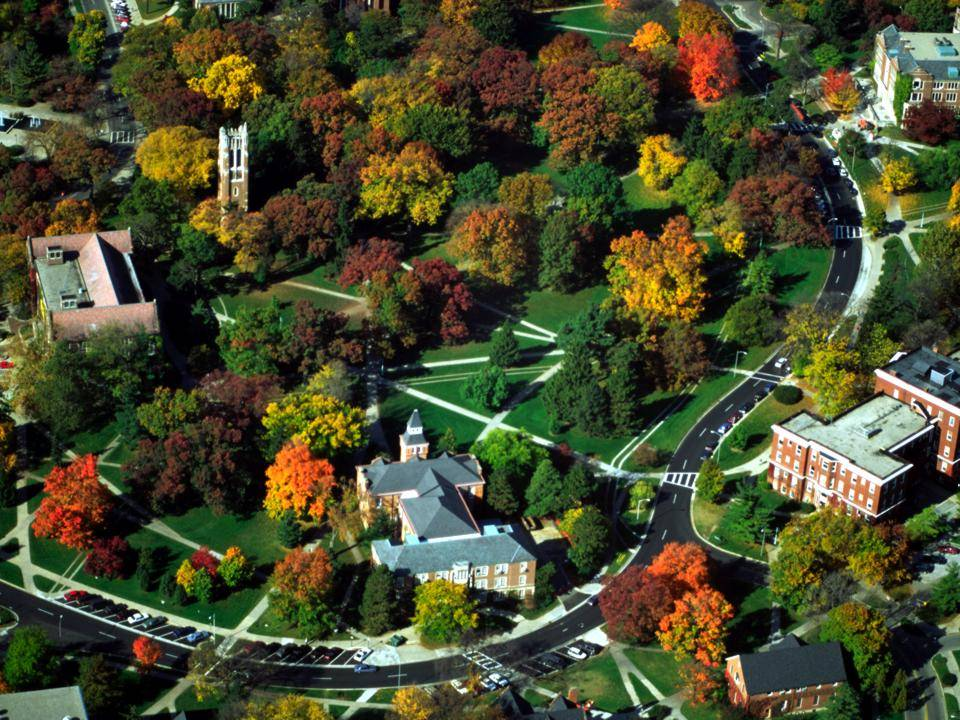 Michigan State University campus aerial photo