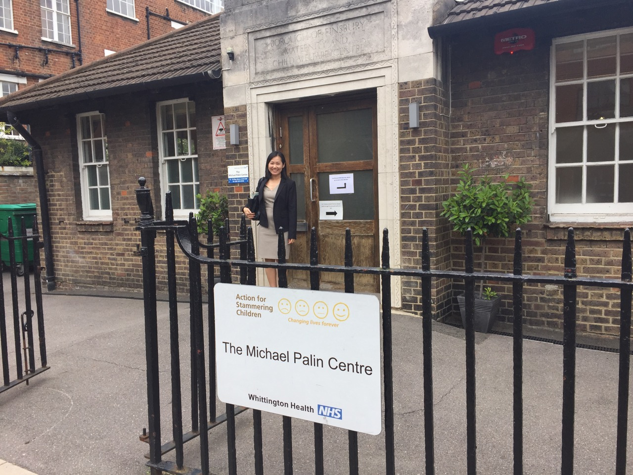 Dr. Chang at the Michael Palin Centre, July 2016.