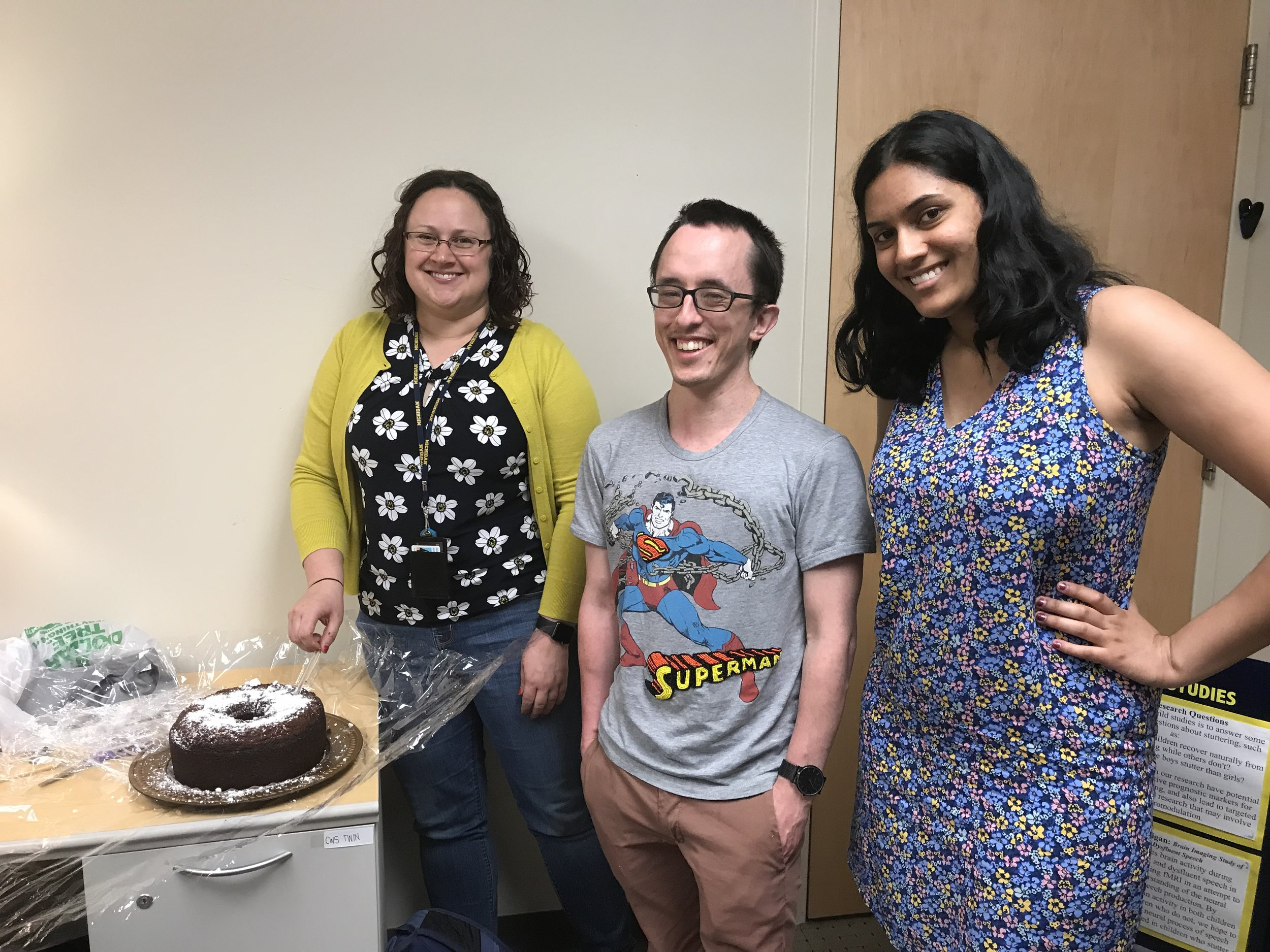U of M lab sending Andrew off with well wishes after completing his post-doctoral research in the lab