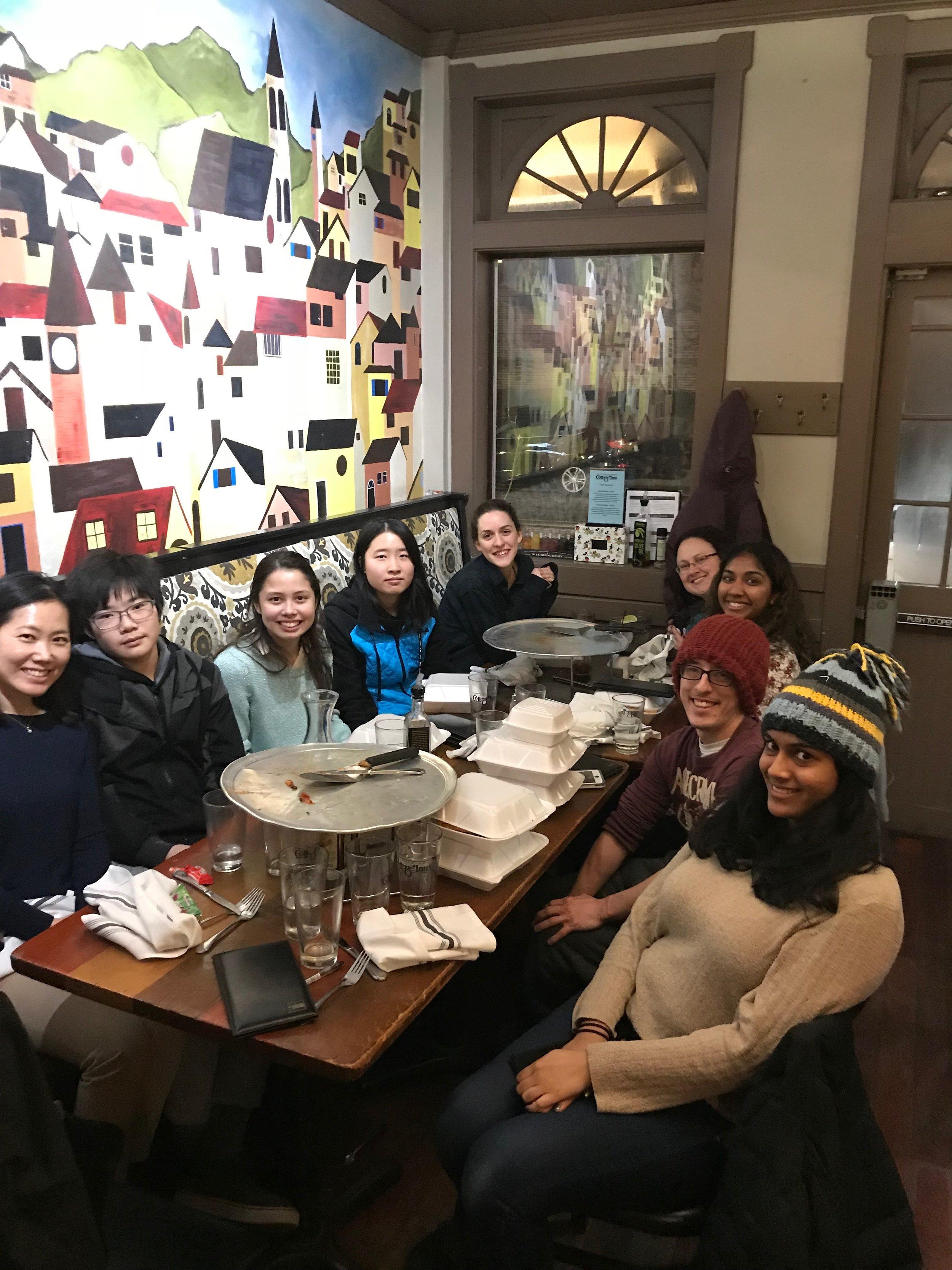 UM Lab Members celebrating the winter holiday season