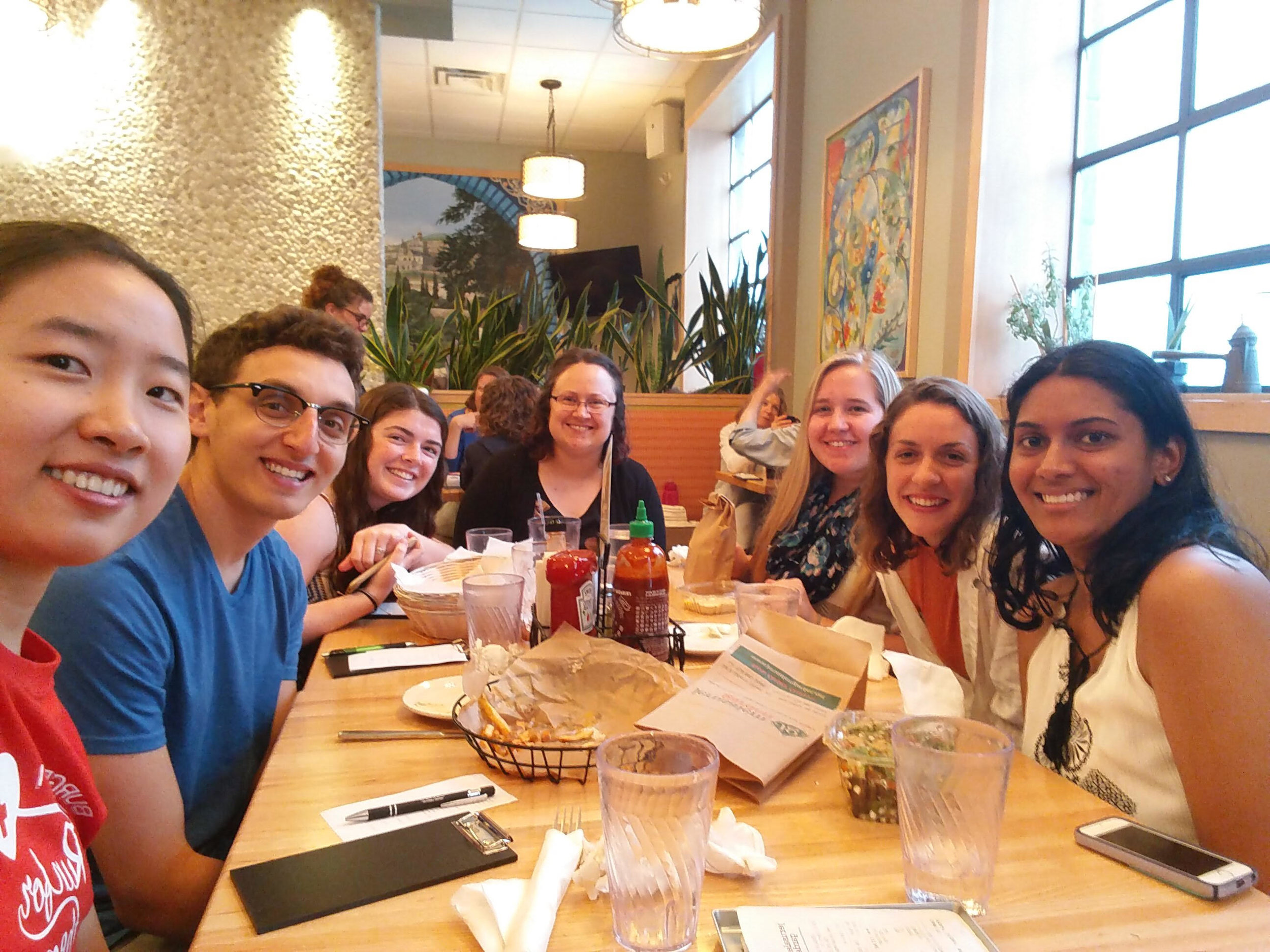 UM Lab Members celebrating Sarah's last day at Jerusalem Garden