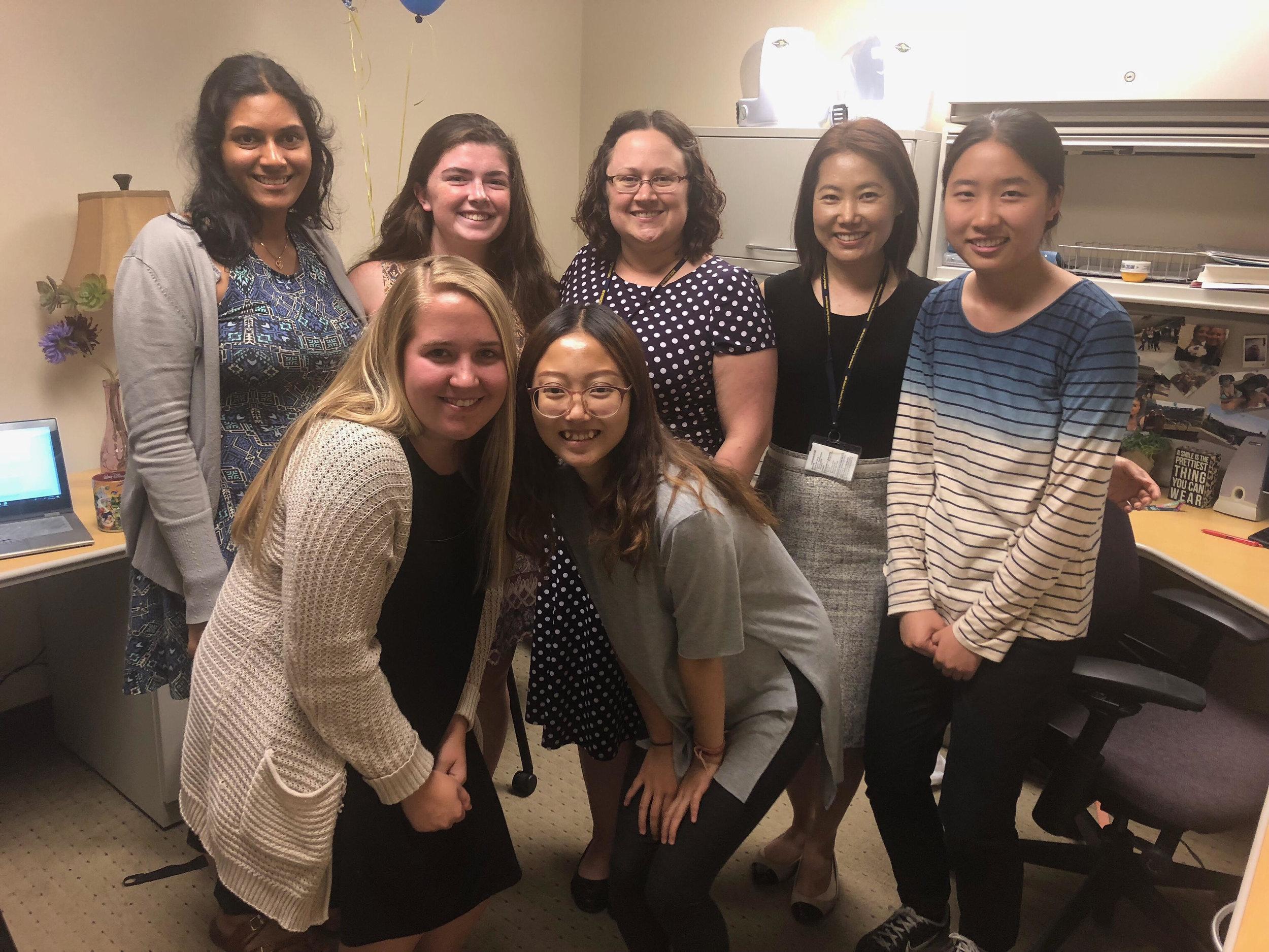 UM Lab Members celebrating Moira's last day