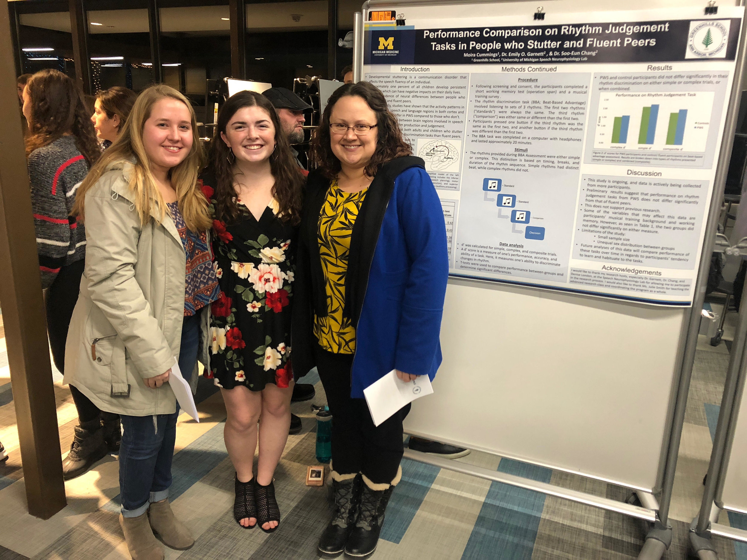 UM lab members attend Moira's advanced research night at Green Hills High School where she presents about her time in the lab