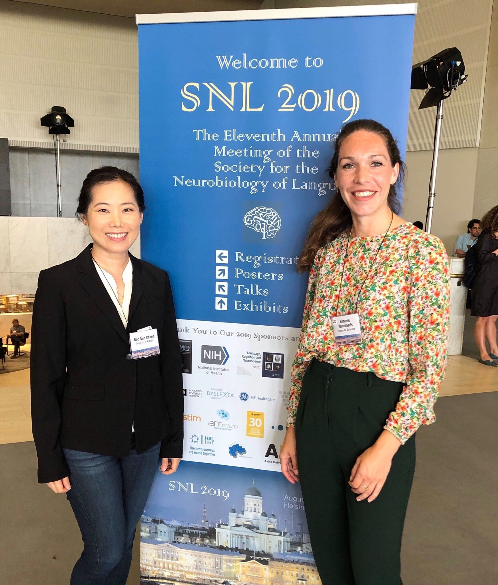 Drs Soo-Eun Chang and Simone Koenraads attended and presented at the Neurobiology of Language Conference in Helsinki.