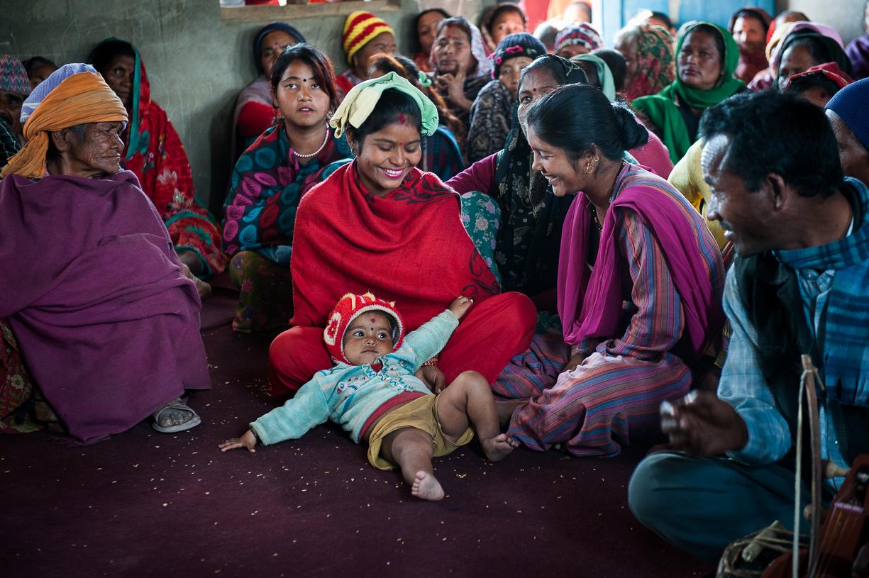 The Gandharba delight in their children.