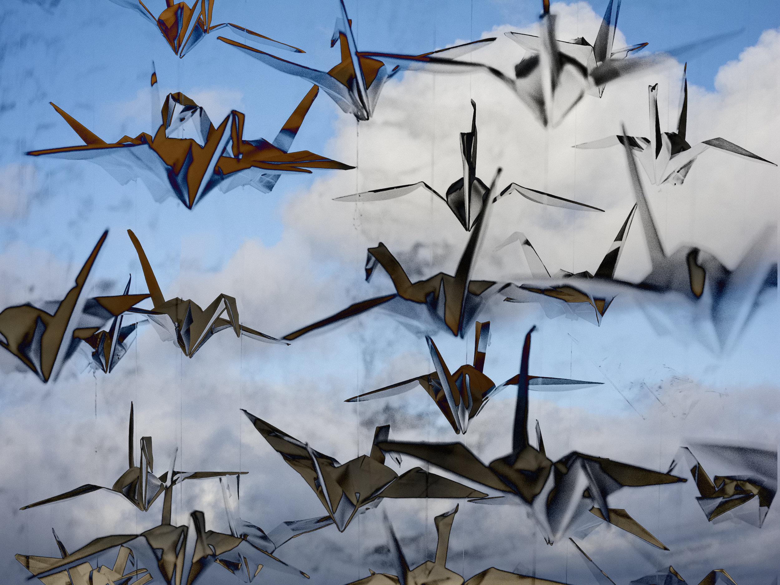 Origami Stork Flight