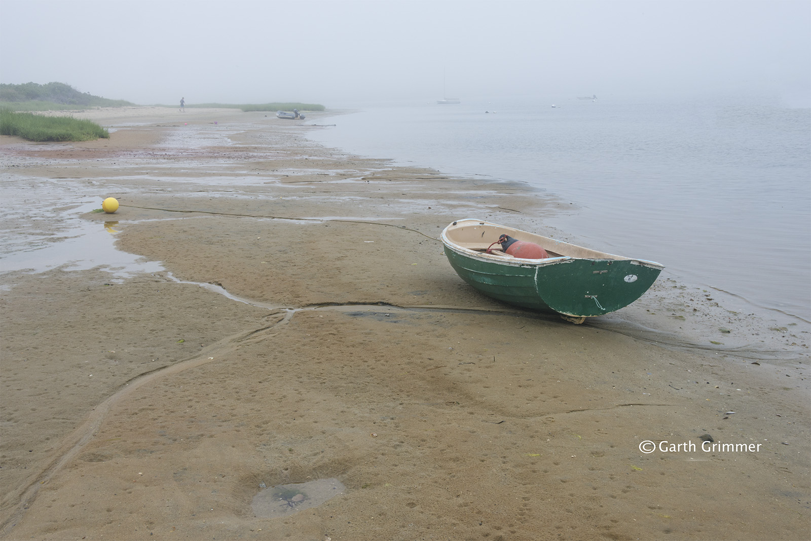 Misty morning low tide