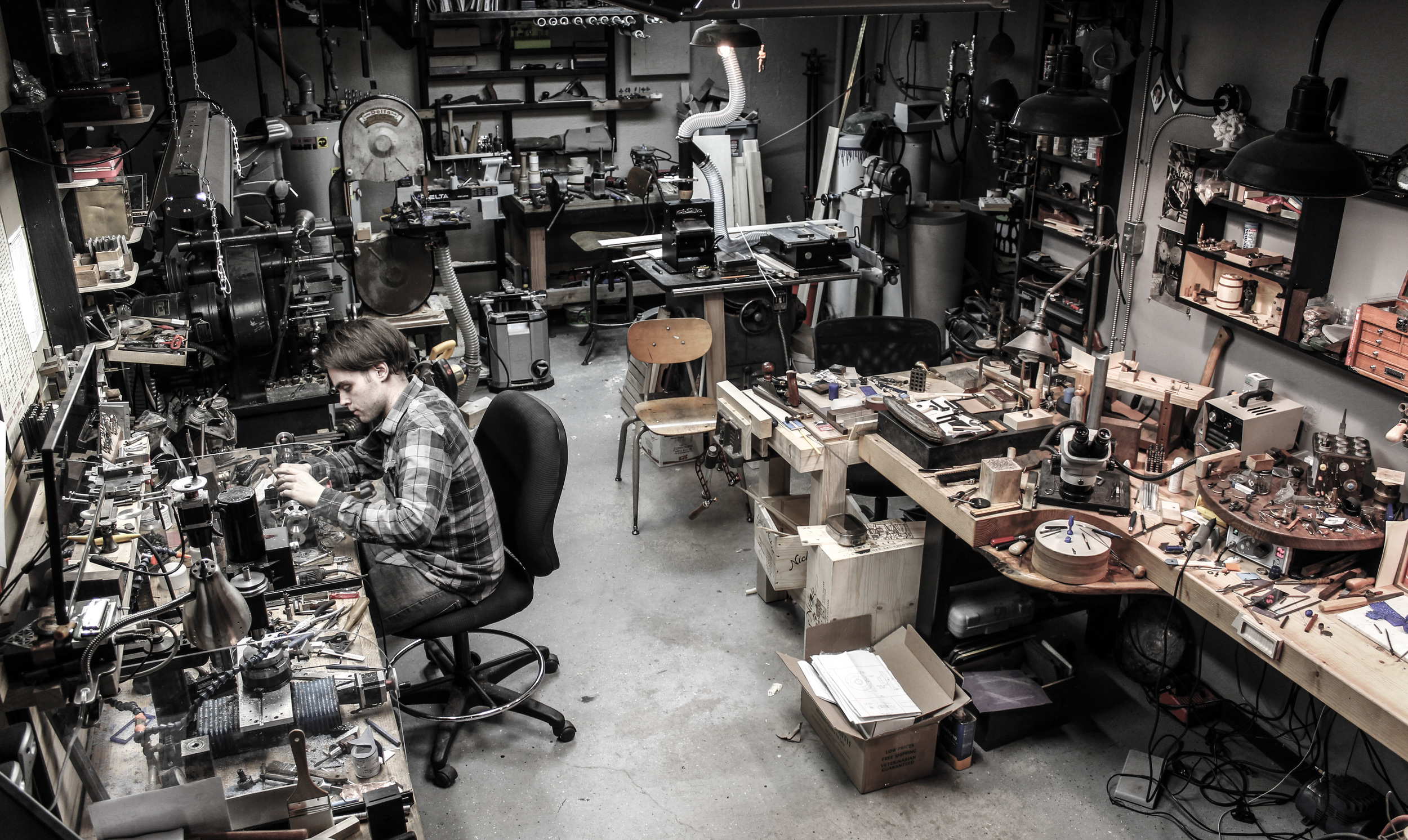 The current miniature making laboratory - January 2015