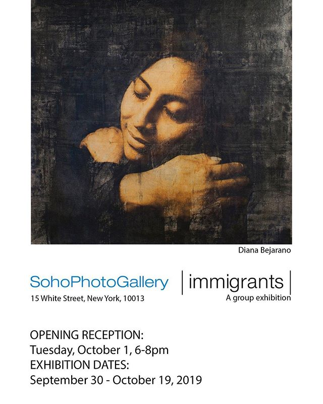 Today is opening day! Come by Soho Photo Gallery From 6-8pm and check out the new show #immigrants #groupexhibition #Soho #nyc
