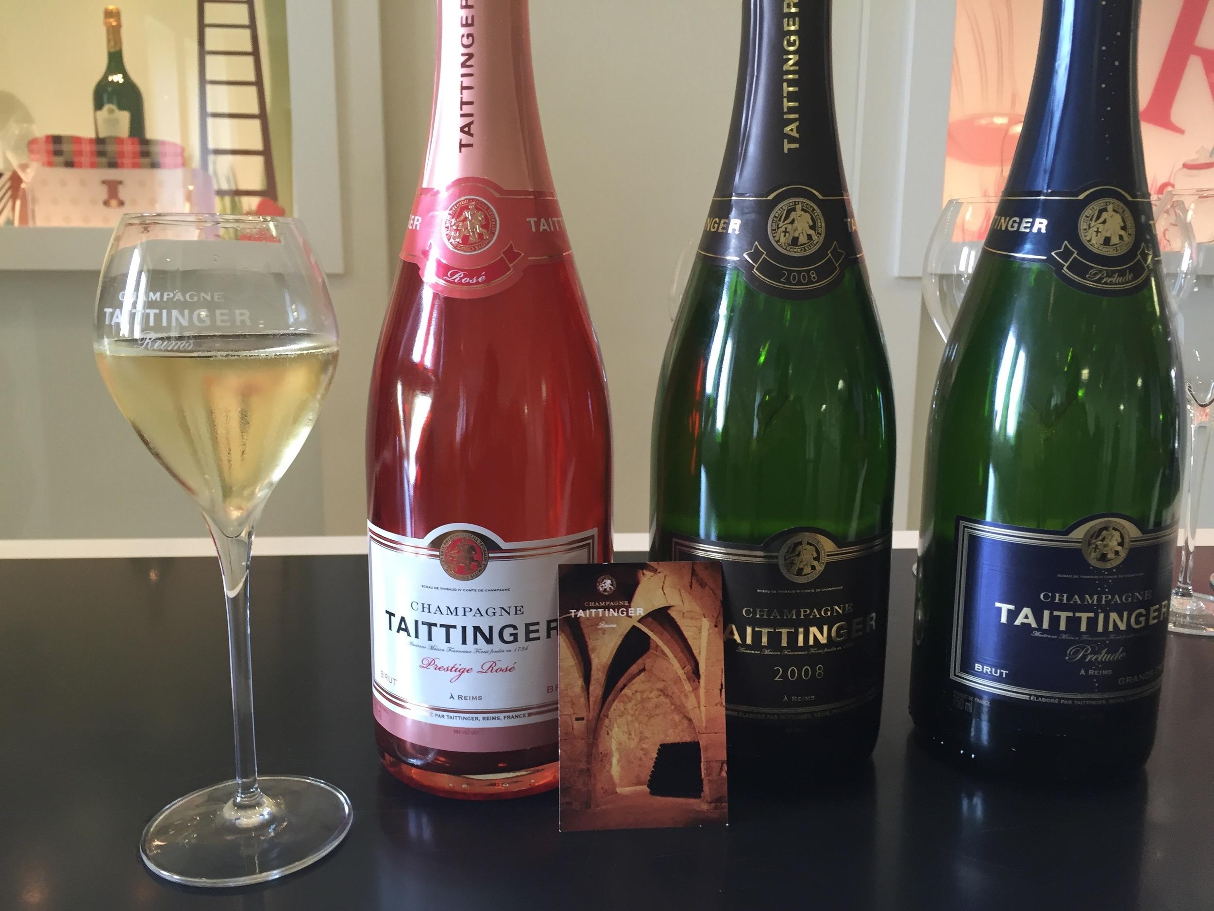Taittinger varietals for tasting