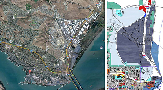 Industrial Park Tech Zoning , Benicia 2,700+ acres Rezoning Industrial Lands for Tech Uses Client: City of Benicia Completed: 2013