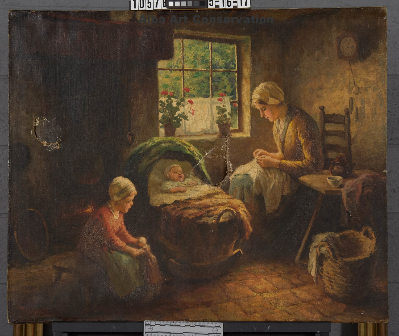 Grust,  Family Scene , Before Treatment, Normal Illumination
