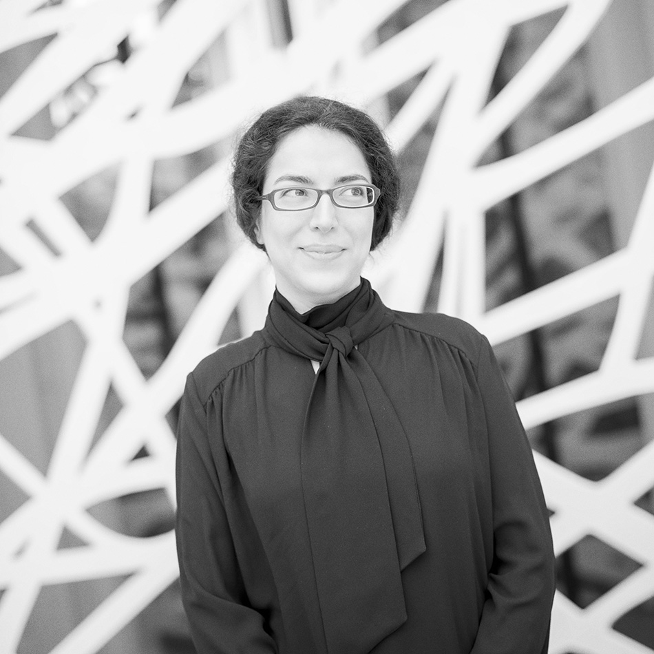 Maria Nikolakaki -  Design   Maria is an architect. She is interested in spatial experience in the sense of the polarity between representation and meaning. Along with her colleague, she is combining new media with traditional types of display, to create a unique experience for the visitor.
