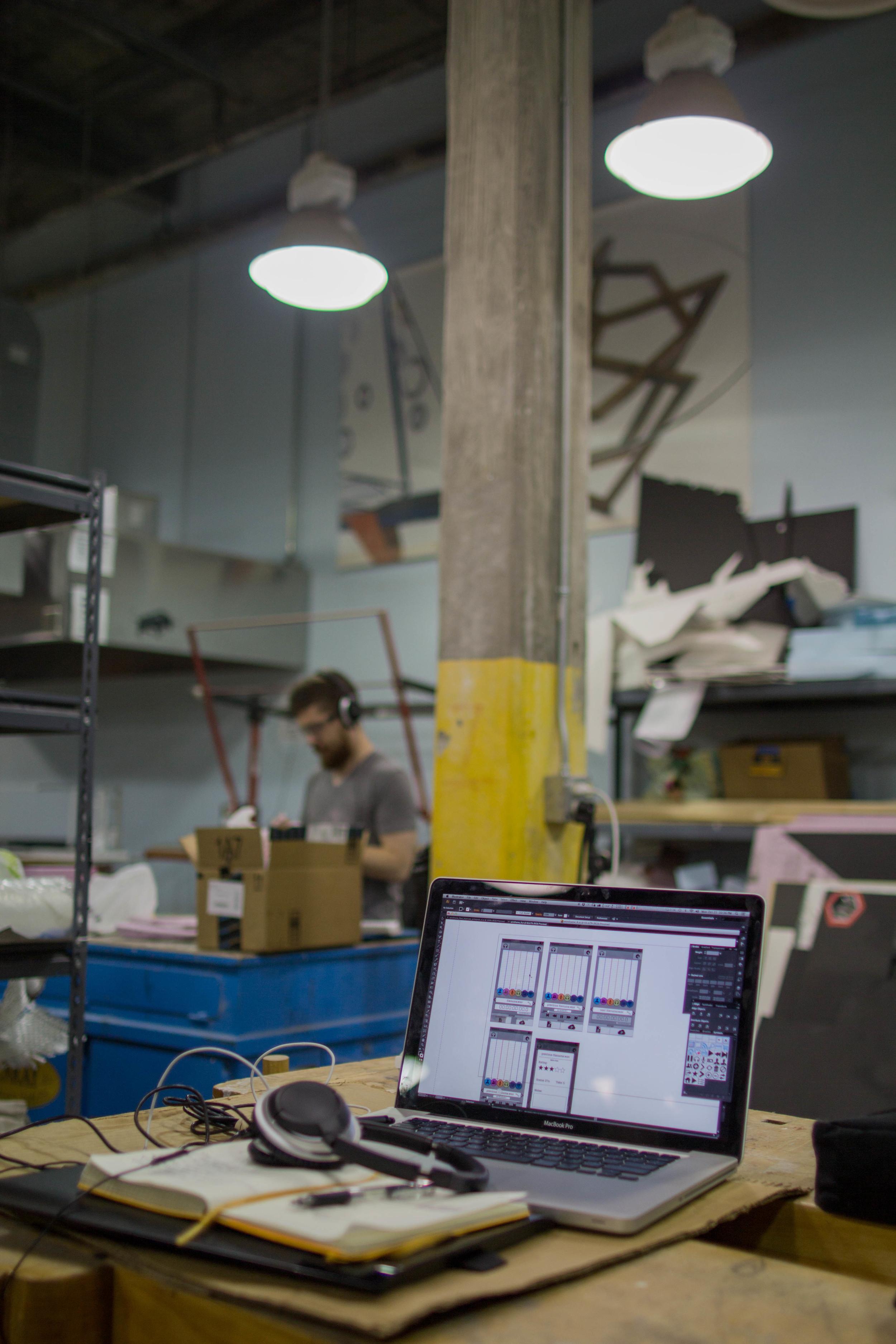 Designer Ryan Brownhill Creating Interface Wireframes.
