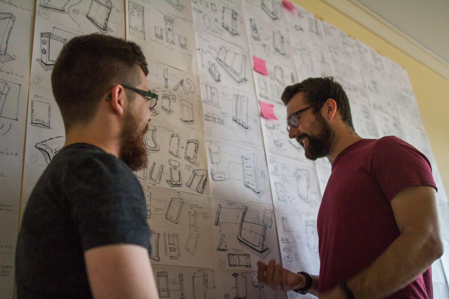 Designers Beney & Brownhill overlooking all concepts.