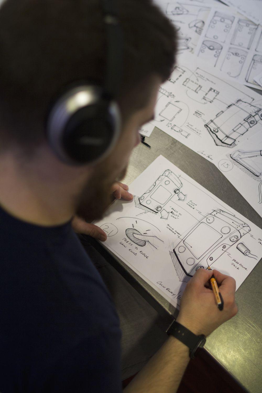 Designer Colin Beney Ideating Forms.