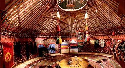 Yurt inside Photo by Bob Snell