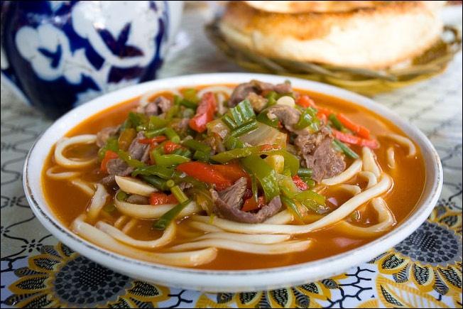 Noodle dish called lagman