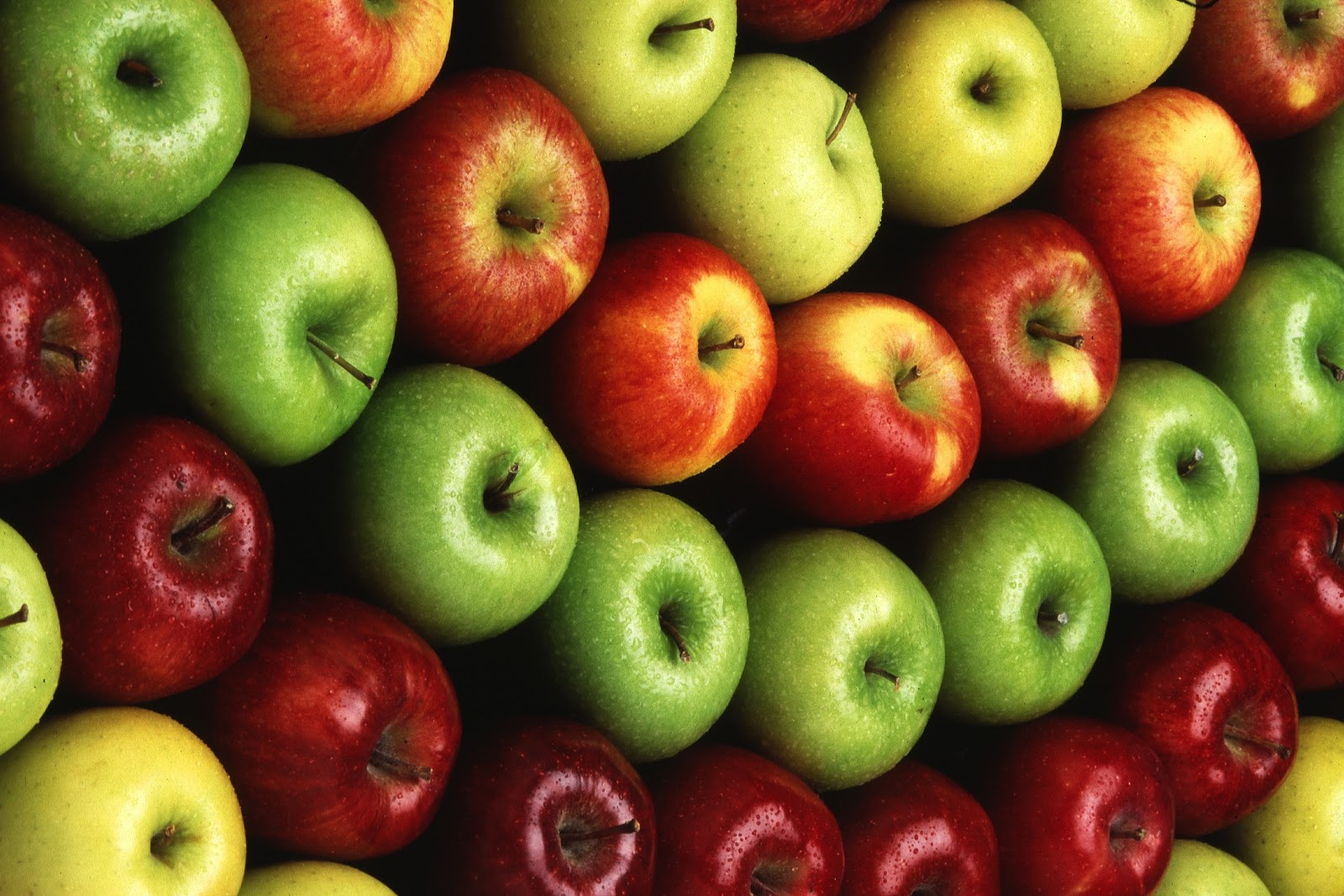 According to Wikipedia original apples come from Central Asia. There are multiple varieties of them native to Kyrgyzstan.