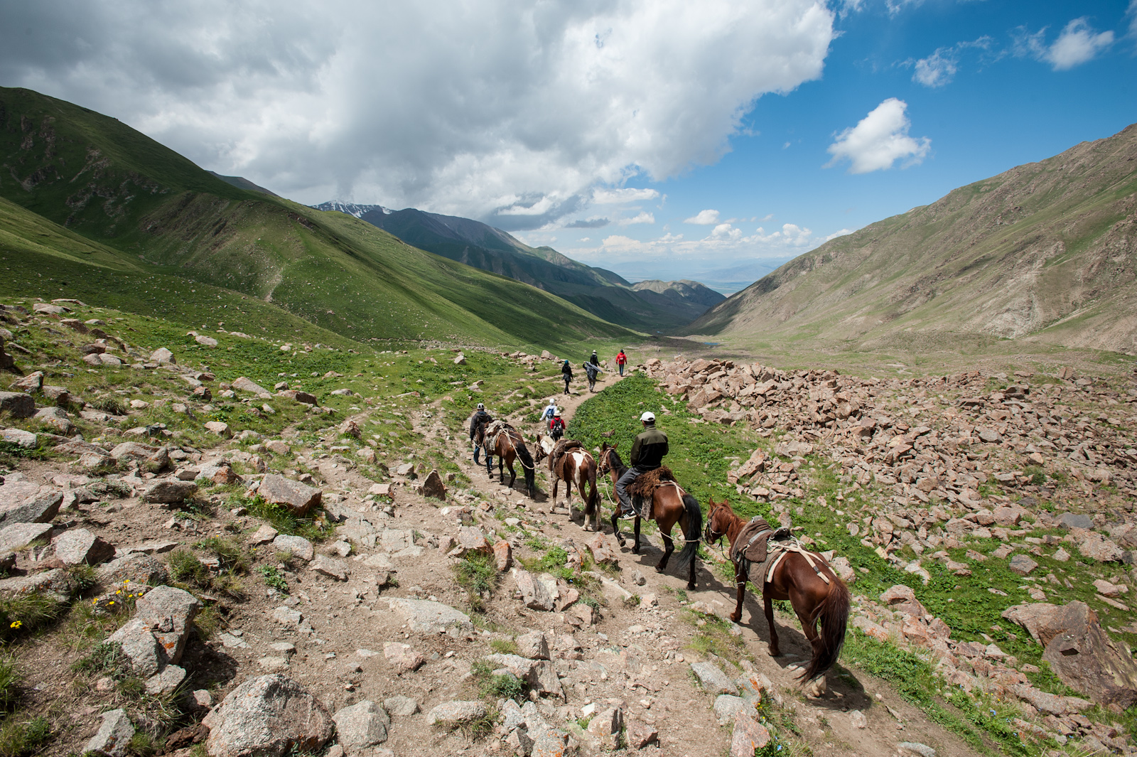 This photo is from a trip with my colleagues from Europe and Asia (2012). Kyrgyz were always nomads similarly to Mongols and their life was highly influenced by horses.